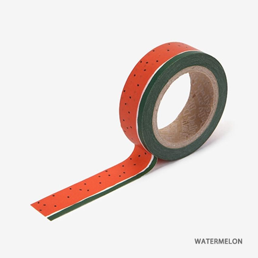Watermelon - Dailylike Fruits deco masking tape set of 4