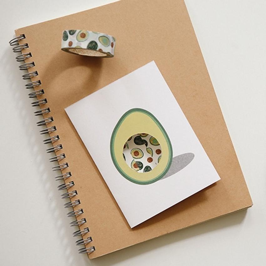 Dailylike Fruits deco masking tape set of 4