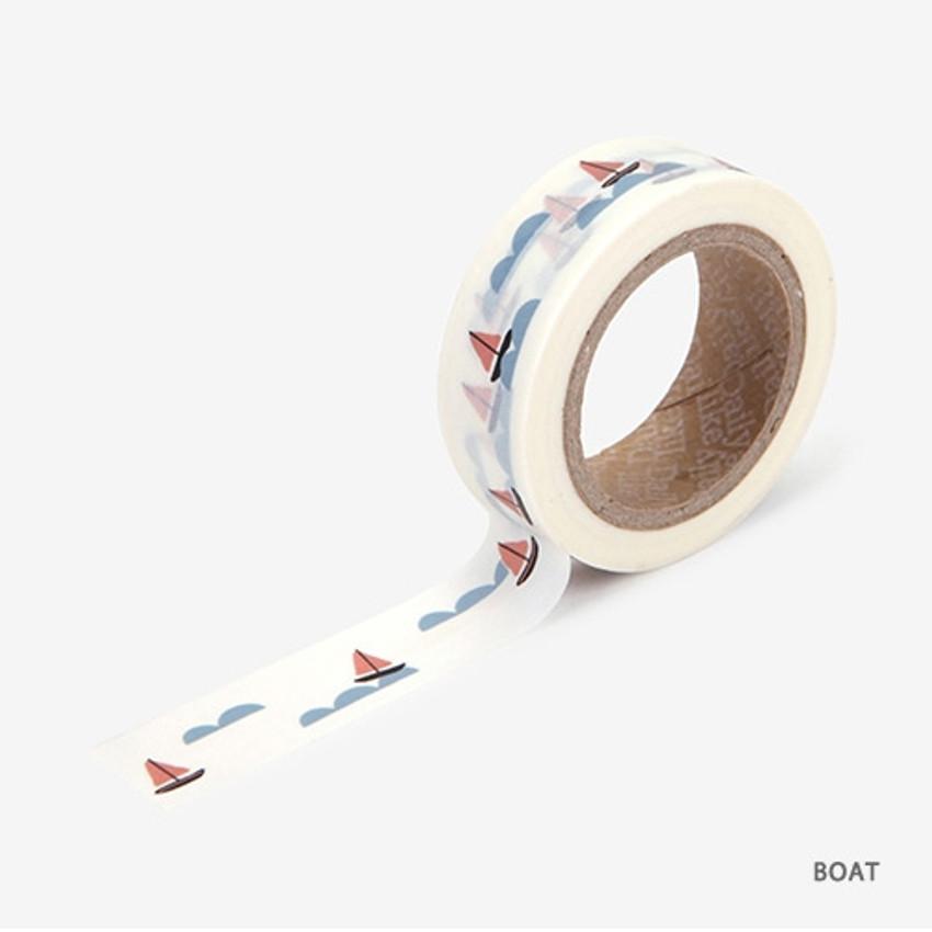 Boat - Dailylike Landscape deco masking tape set of 4