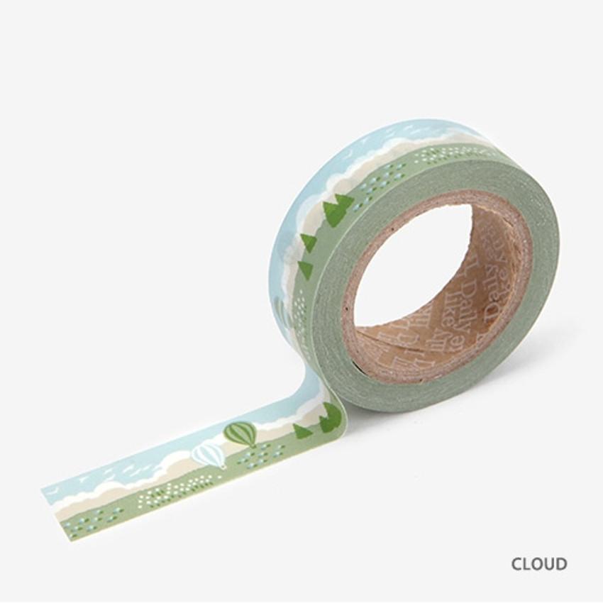 Cloud - Dailylike Landscape deco masking tape set of 4