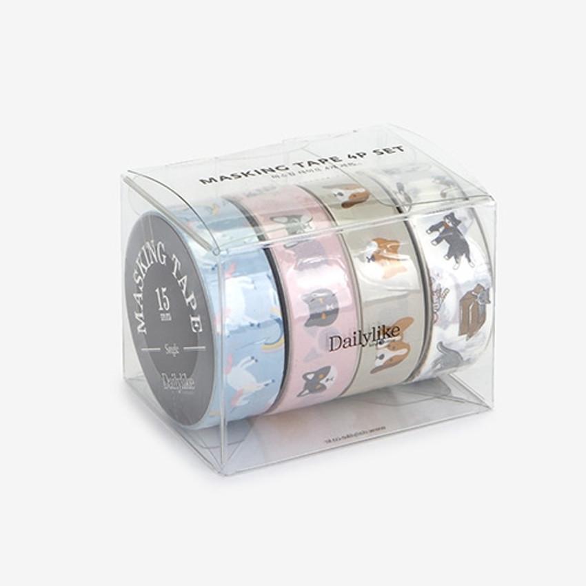 Dailylike Animal deco masking tape set of 4