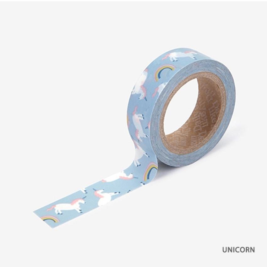 Unicorn - Dailylike Animal deco masking tape set of 4