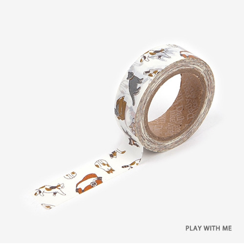 Play with me - Dailylike Animal deco masking tape set of 4
