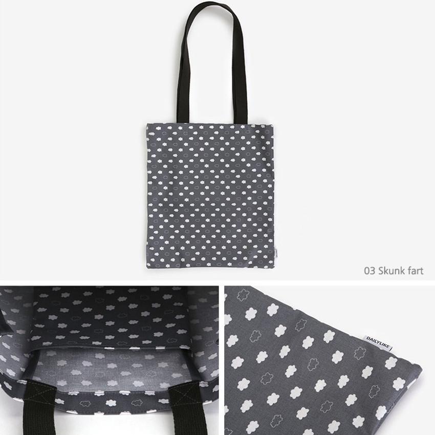 03 skunk fart - Dailylike Laminate fabric tote shoulder bag