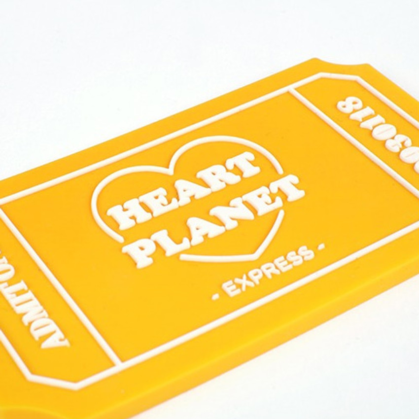 After The Rain Heart planet ticket travel luggage name tag