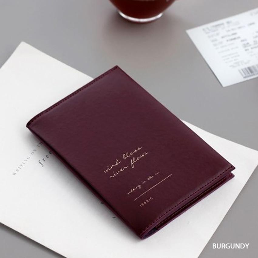 Burgundy - Iconic Slit passport cover case holder