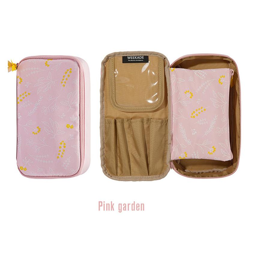 Pink - Weekade botanical cosmetic beauty makeup pouch