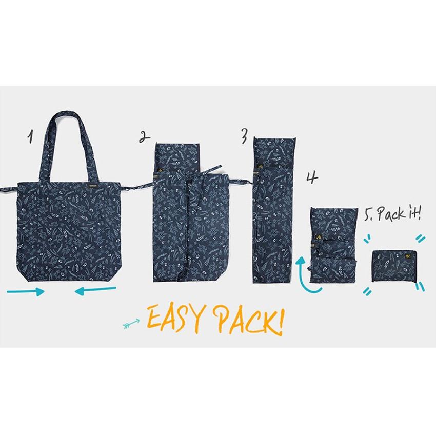 Botanical island travel foldable shoulder bag