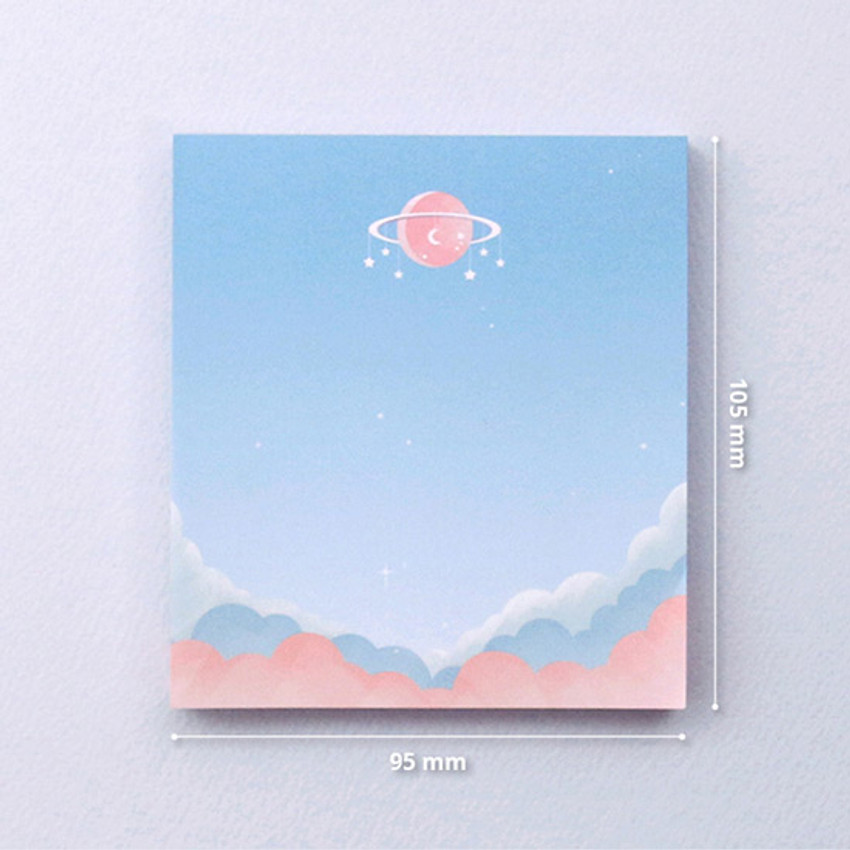 Size - Second Mansion Moonlight memo notepad