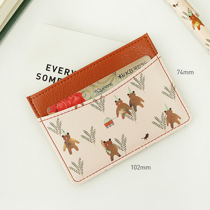 Size - Indigo Willow story pattern flat card case holder ver2