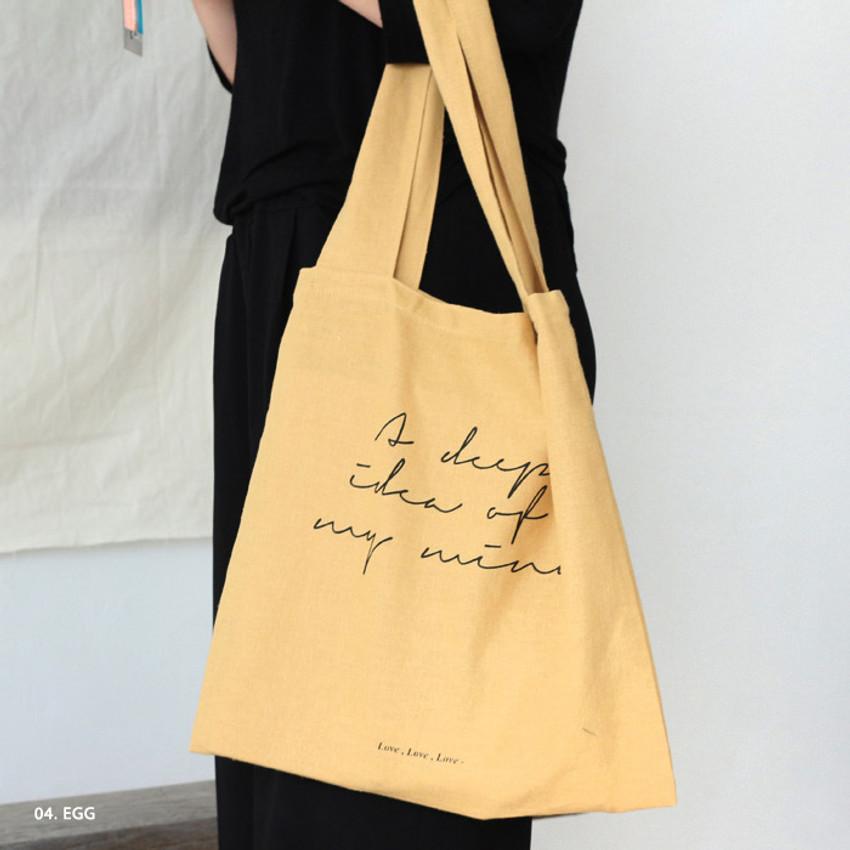Egg - Mind linen fabric daily shoulder bag
