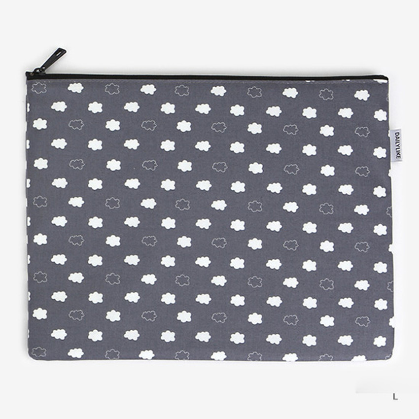 Laminated cotton fabric zipper pouch -Skunk fart