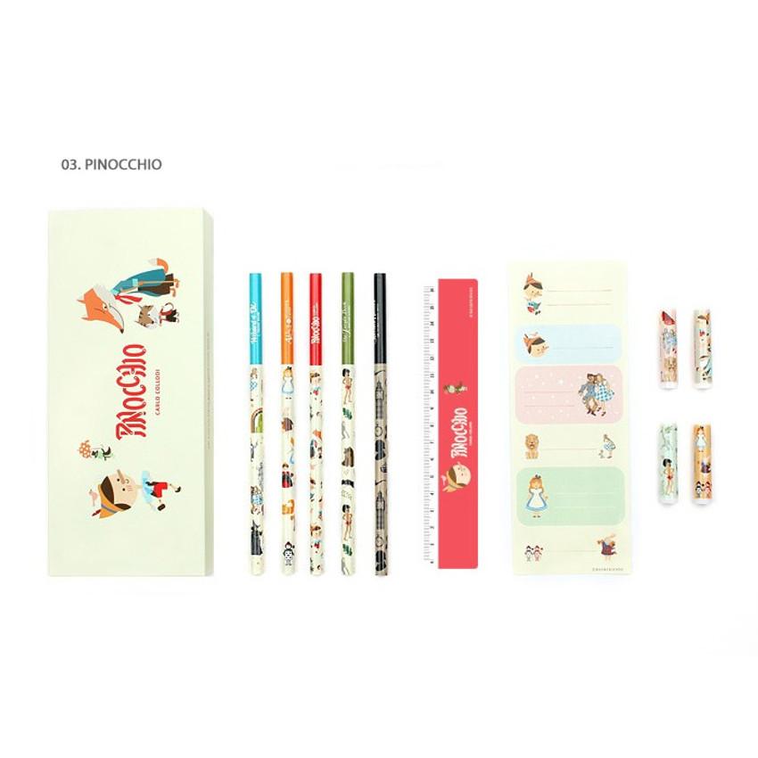 Pinocchio - World literature gift paper pencil case set