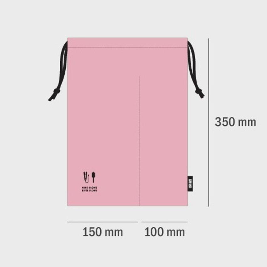 Size of Split hair straightener flat iron drawstring pouch