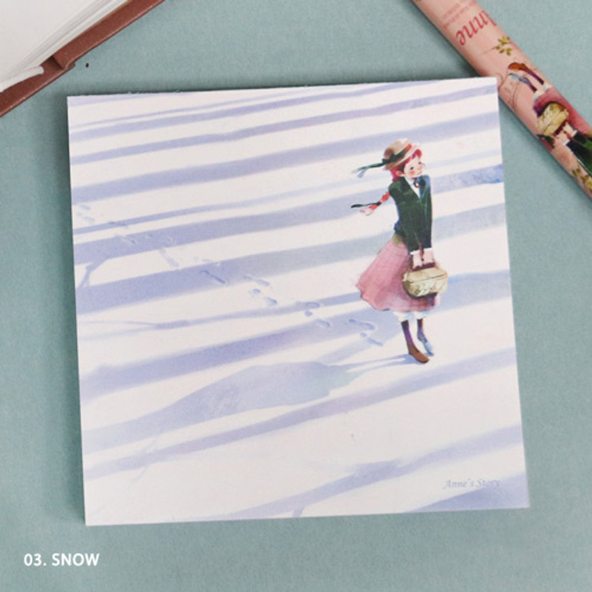 03. winter - Indigo Classic story Ann memo notepad