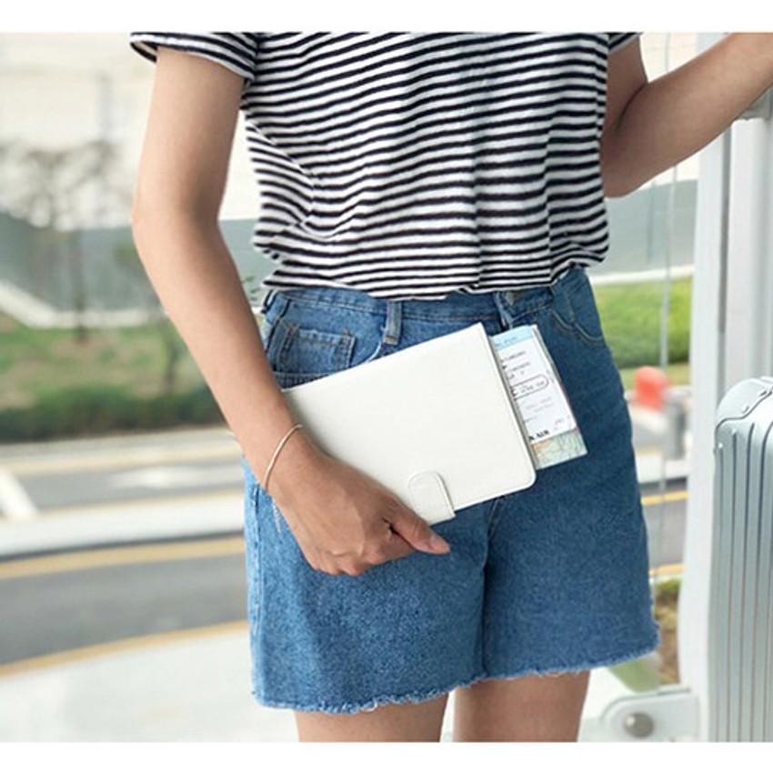 White - Seeso Double passport cover case holder
