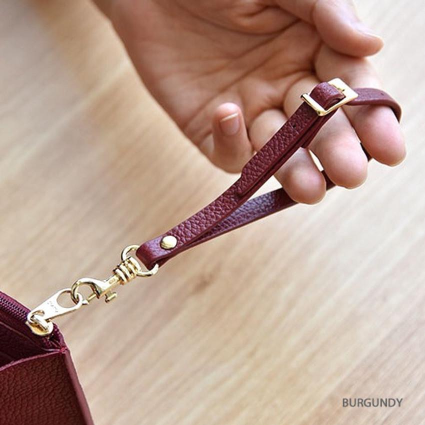 Burgundy - Allday genuine cowhide leather strap