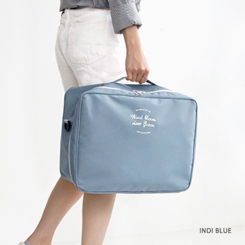 Indi blue - Two way trunk travel organizer pouch bag