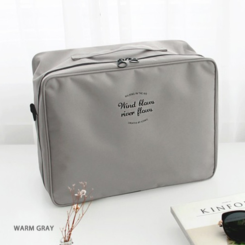 Warm gray - Two way trunk travel organizer pouch bag