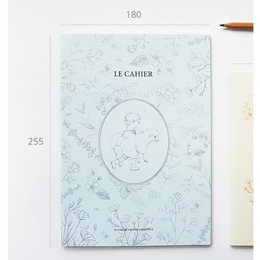 Size - O-check Le cahier little boy and girl large lined notebook
