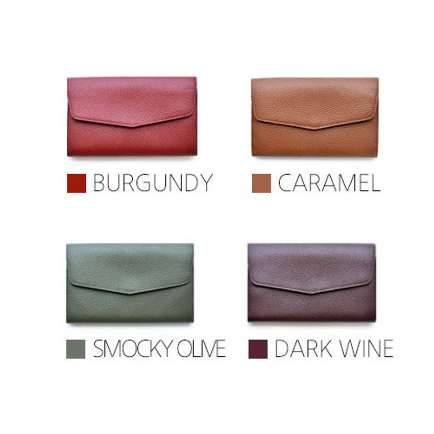 Colors of Allday mate genuine cowhide leather clutch wallet