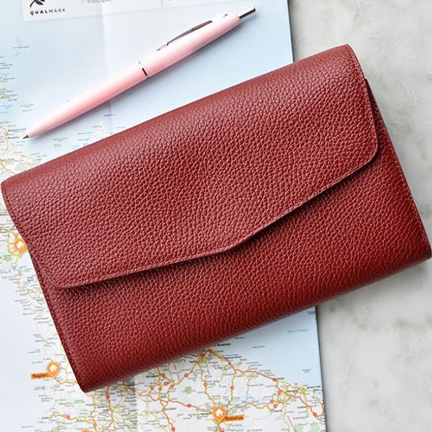 Allday mate genuine cowhide leather clutch wallet