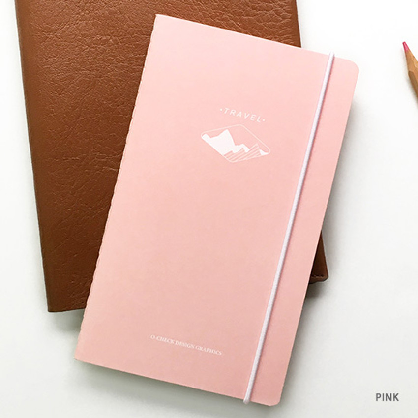 Pink - O-check Light travel daily planner notebook