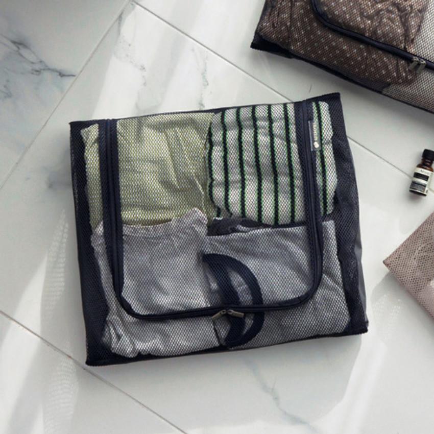 Charcoal gray - Travelus mesh packing organizer bag XL ver3