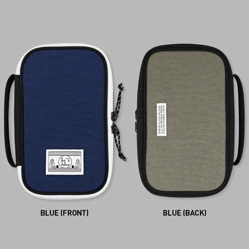 Blue - Washer multi zip around pouch