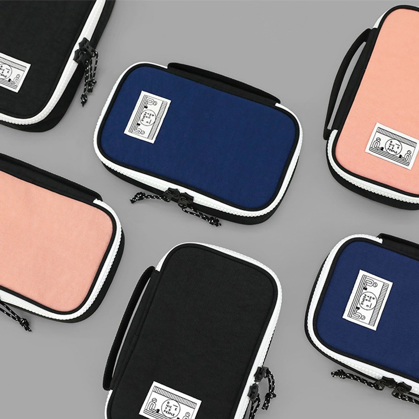 Washer multi zip around pouch