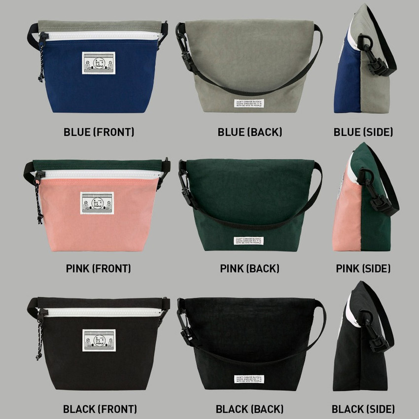 Colors of Washer zipper pouch with wrist strap