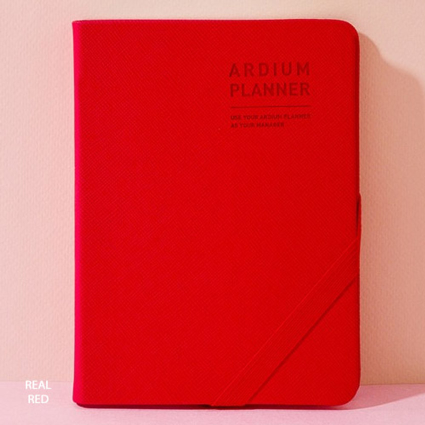 Real red - 2019 Simple dated weekly small planner