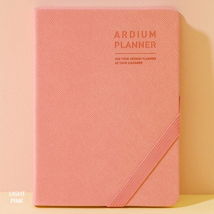 Light pink - 2019 Simple dated weekly small planner