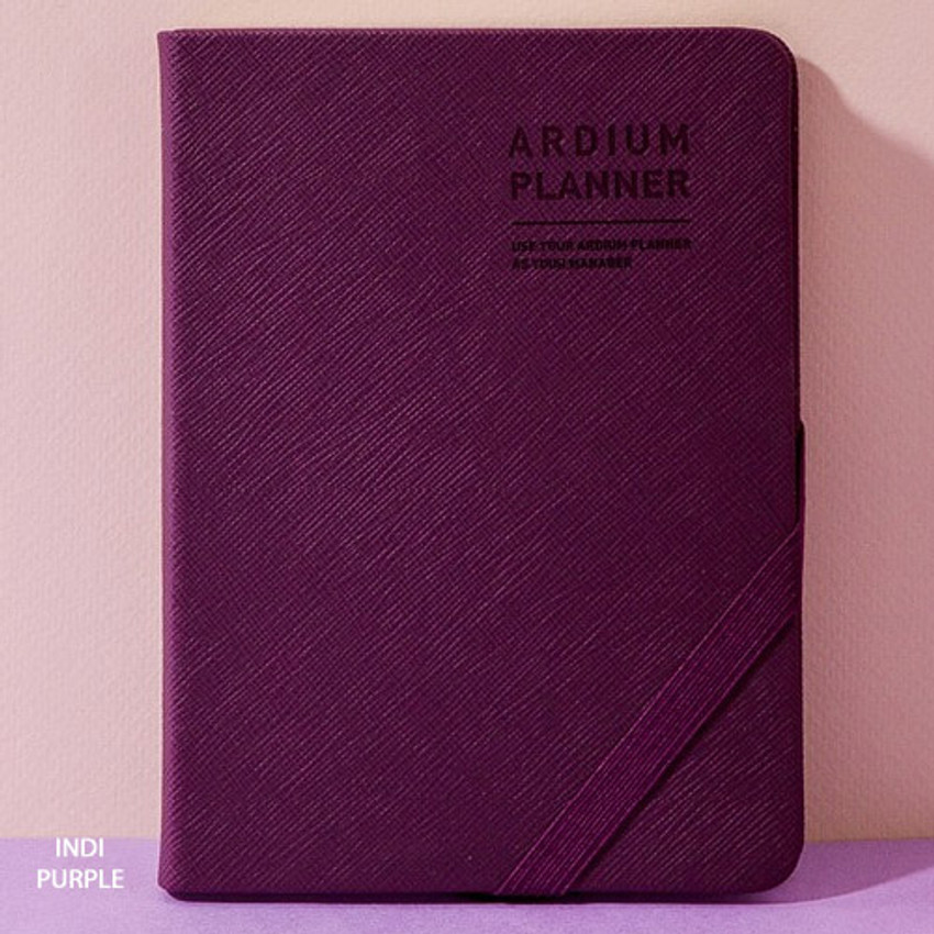 Indi purple - 2019 Simple dated weekly small planner