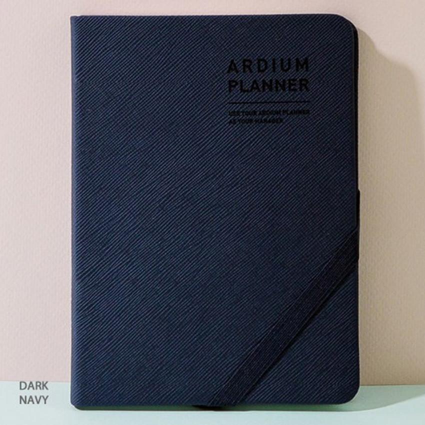 Dark navy - 2019 Simple dated weekly small planner