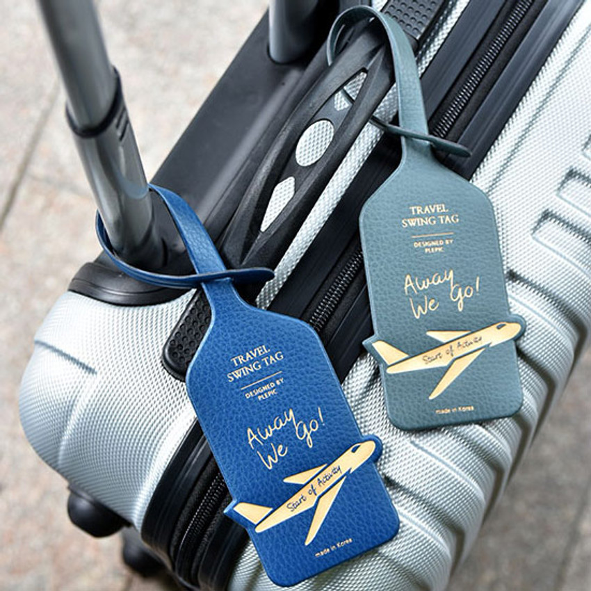 Away we go travel swing luggage name tag