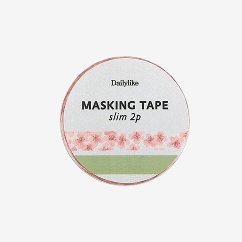 Dailylike Cherry blossom slim deco masking tape set