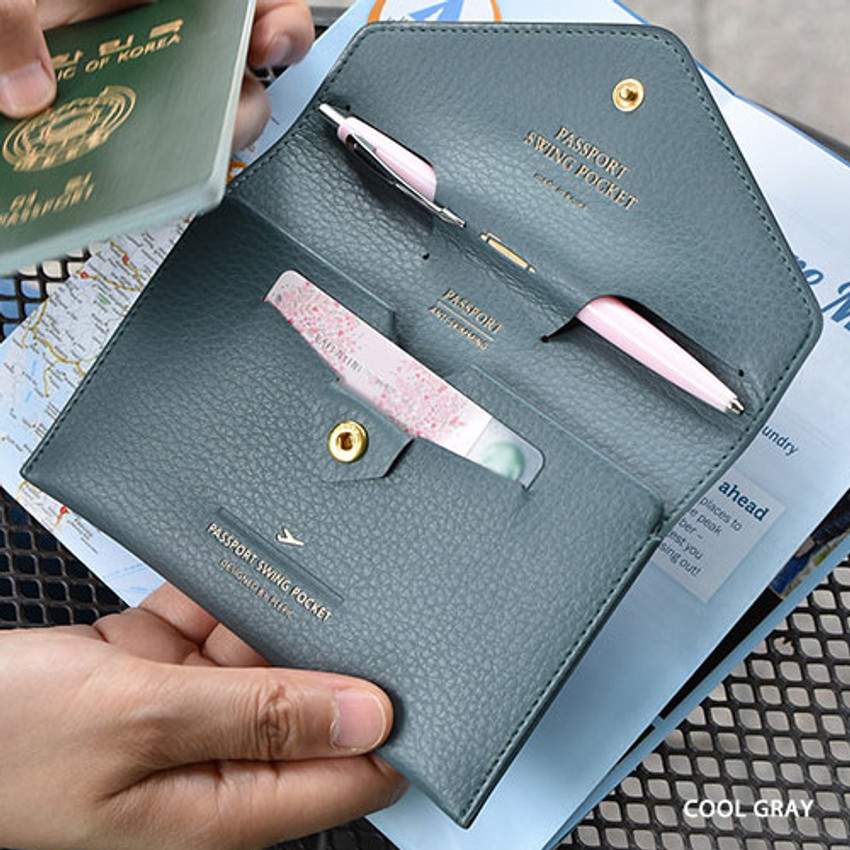 Cool gray - Away we go swing RFID blocking passport case
