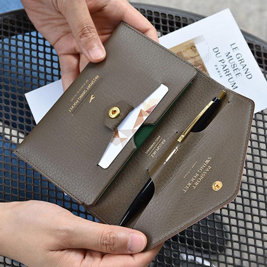Away we go swing RFID blocking passport case