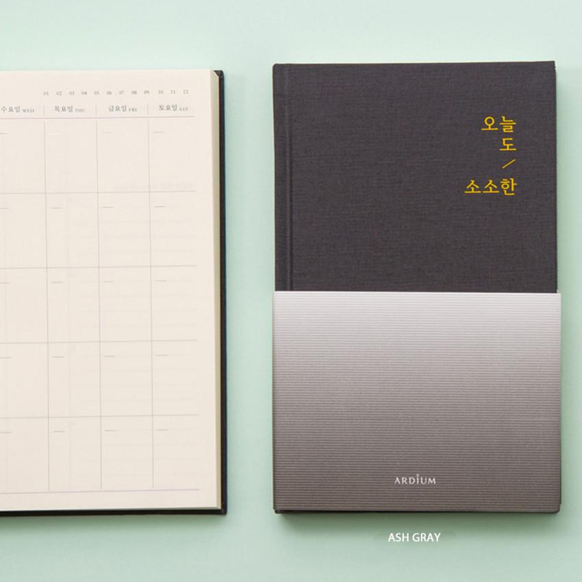 Ash gray - Sosohan undated daily diary agenda