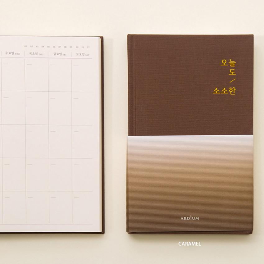Caramel - Sosohan undated daily diary agenda