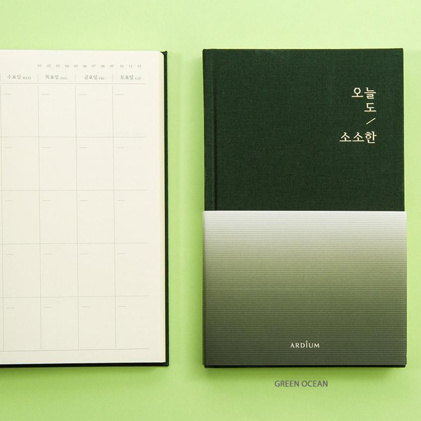 Green ocean - Sosohan undated daily diary agenda
