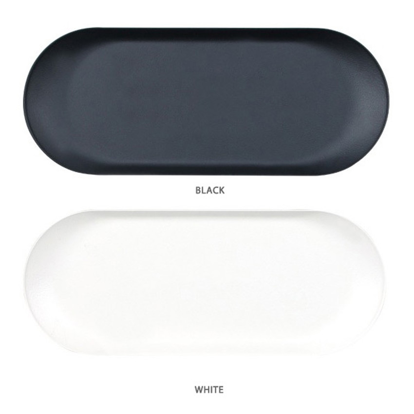 Color - Bookfriends Black and white steel pencil pen tray