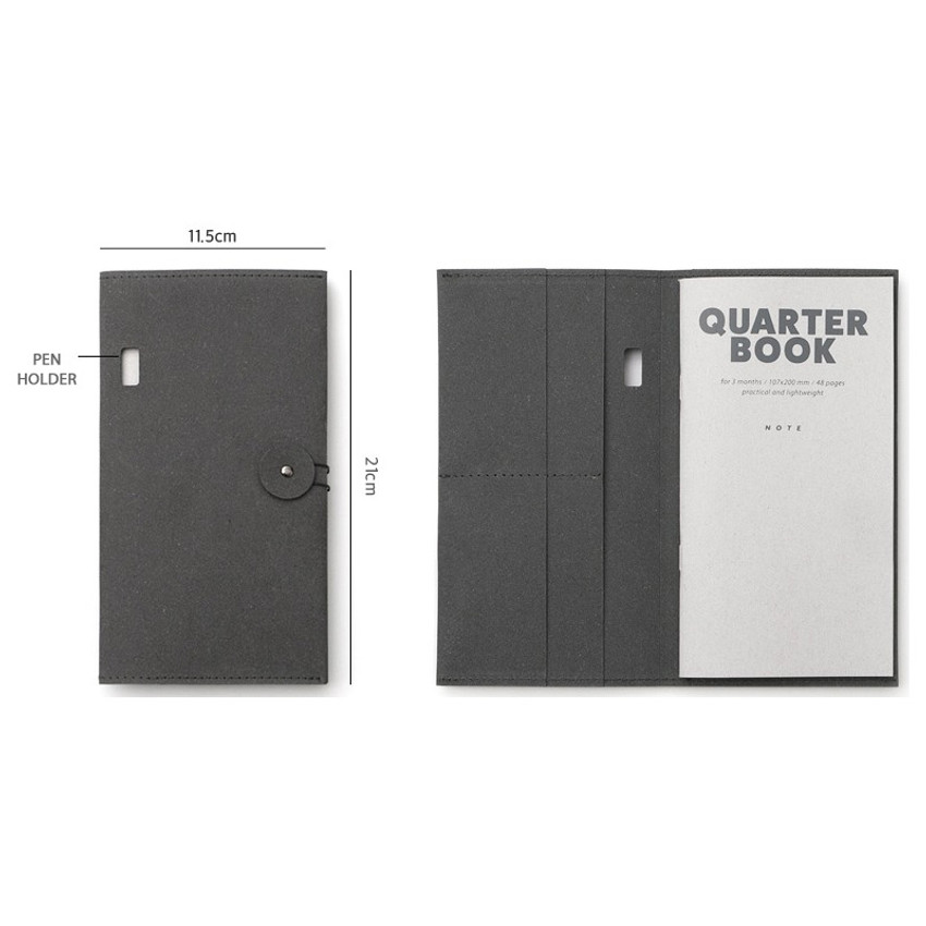 Size of Ma boheme travel planner notebook