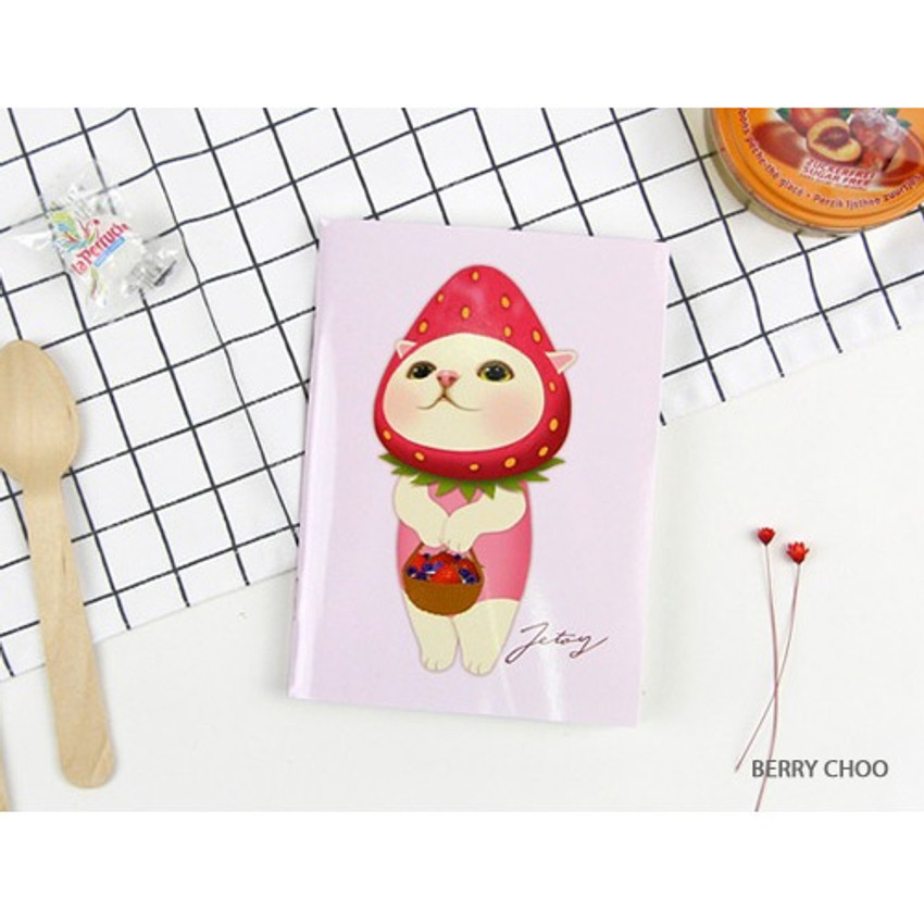Berry choo - Choo Choo cat small lined and grid notebook ver2