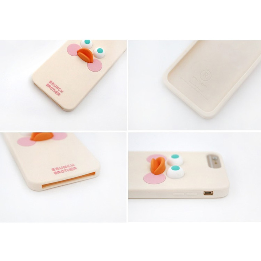 Detail of Brunch brother duck iPhone 6+ 6S+ 7+ 8+ silicone case