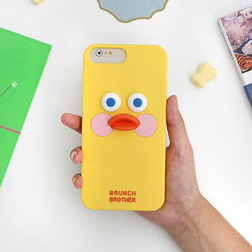 Yellow - Brunch brother duck iPhone 6+ 6S+ 7+ 8+ silicone case