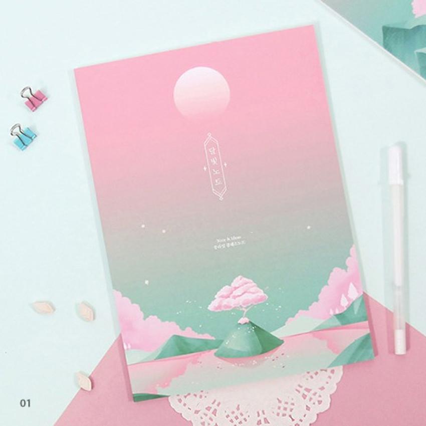 01 - Moonlight B5 size grid-lined class notebook