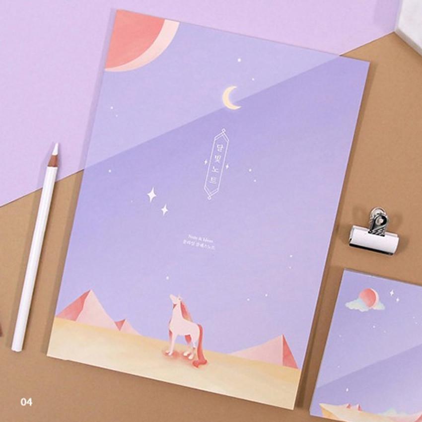 04 - Moonlight B5 size grid-lined class notebook