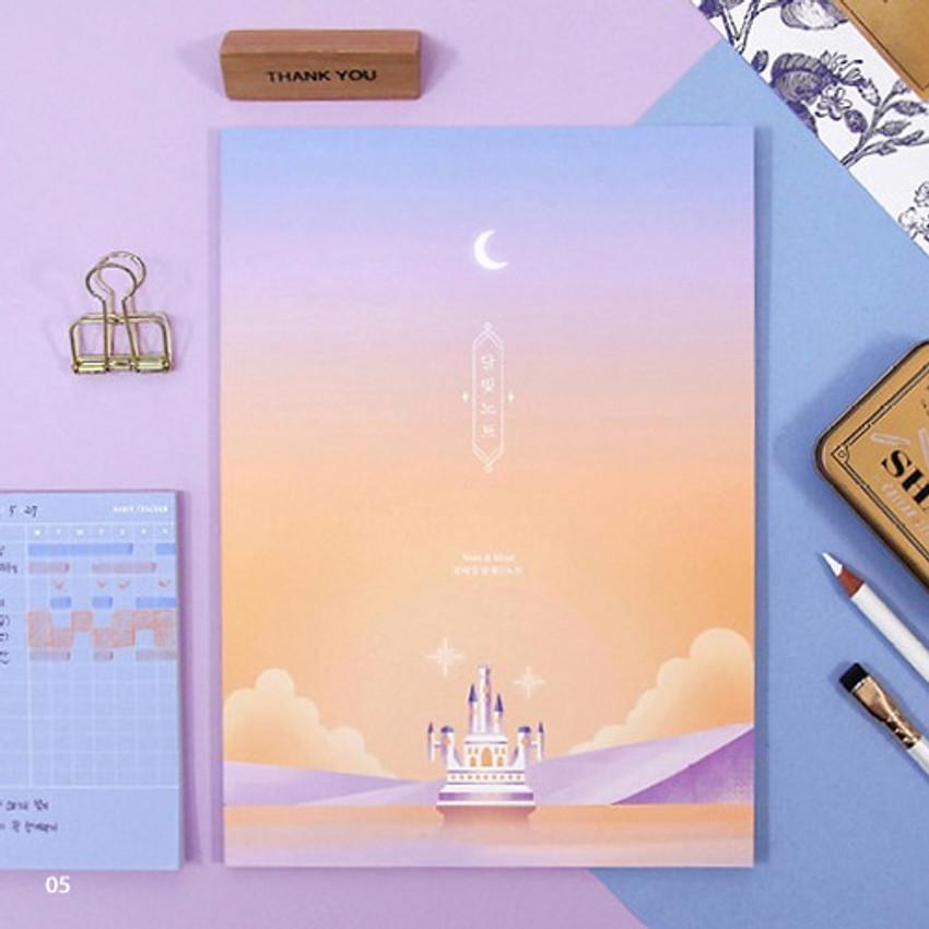 05 - Moonlight B5 size grid-lined class notebook